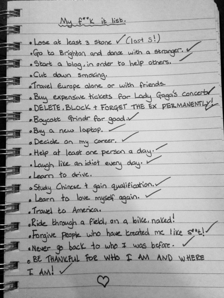 My 'F**k It List'